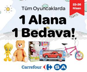 T�m oyuncaklarda 1 Alana 1 Bedava!