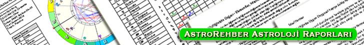 Türkiye'nin ilk ve tek Astroloji® yazılımı Astrorehber®'den yedi farklı Astoloji® raporu.